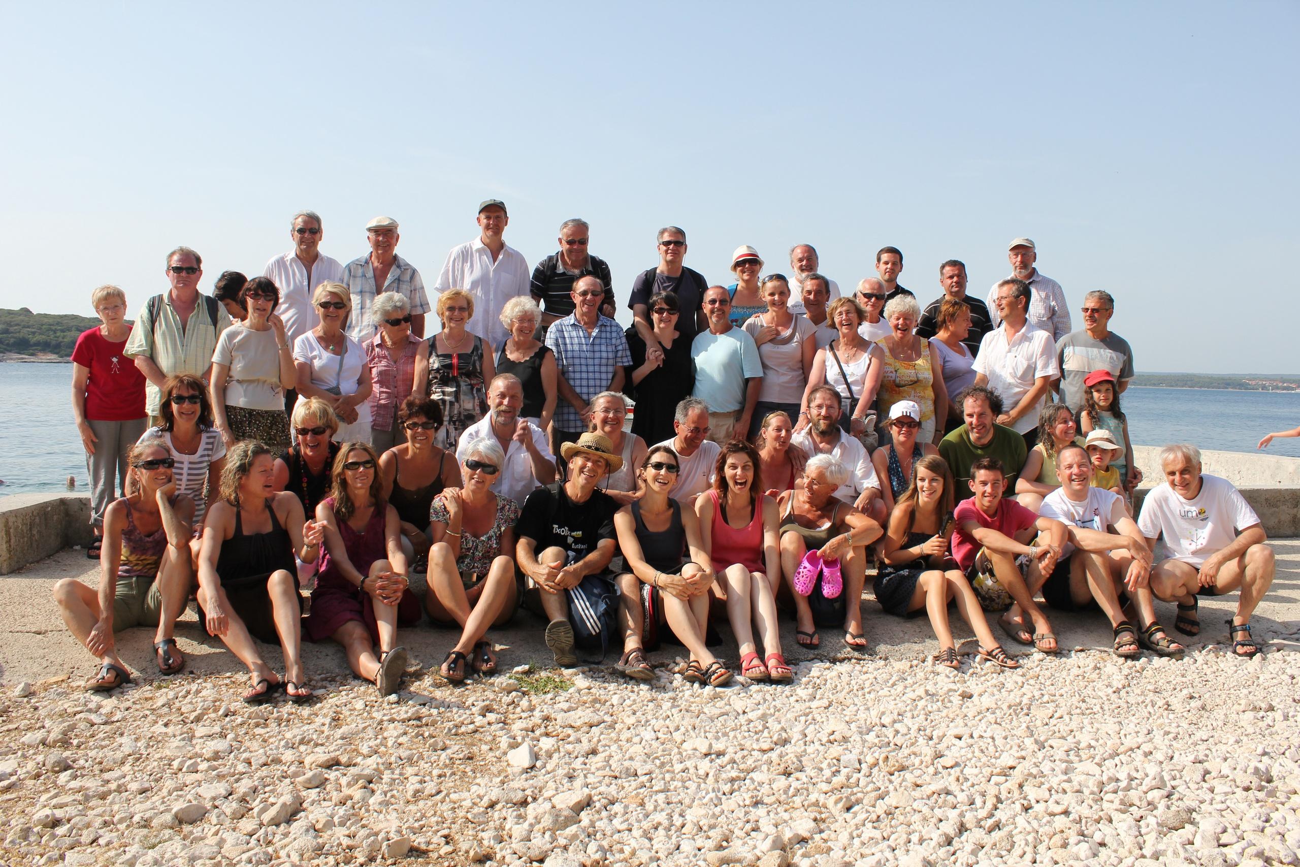 Le Groupe sur l'ile de Jerolim