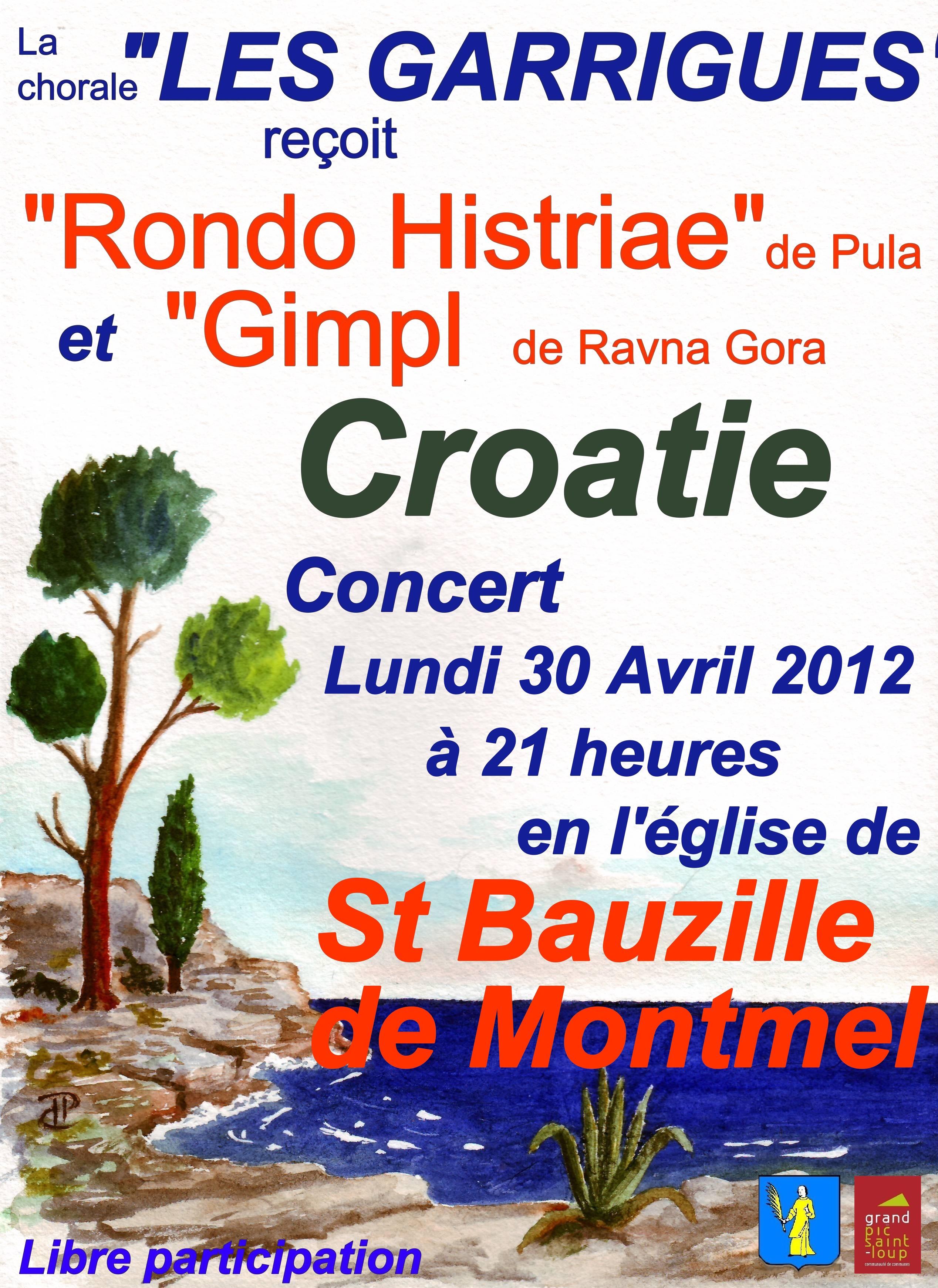 Concert Saint Bauzille 30 Avril 2012