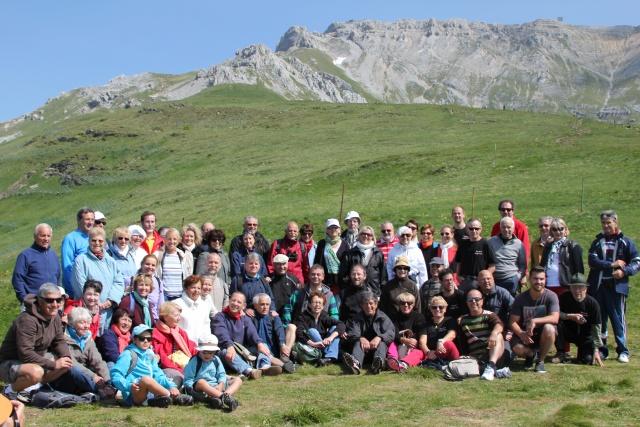 Le groupe dans les Montagnes