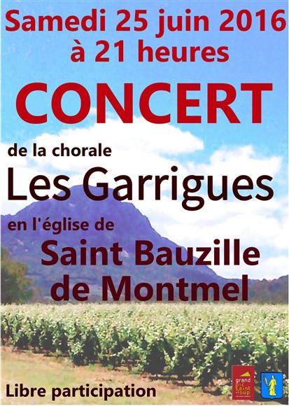 Concert St Bauzille de Montmel